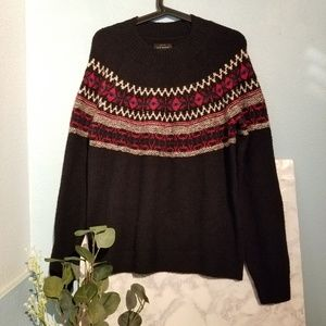 Lucky Brand Fair Isle Chunky Sweater Size M Knit
